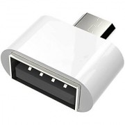 ZEVORA Micro USB On-The-Go OTG Adapter For Smartphones (White) (AWHITEOTGTUKDA01A-1)