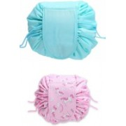 Glowing Buzz Cosmetic pouch/ Cosmetic kit/ Travel pouch/ Latest collection/ Premium quality Travel Toiletry Kit(Blue, Pink)