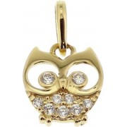 The Jewelry Collection Hanger Uil Zirkonia - Goud