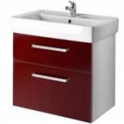 Závesná skrinka s umývadlom Q MAX 600 S - červená