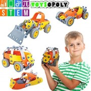 FLASH SALE   STEM Toys Kit, 148 pcs 5-in-1 Build and Play Set   Educational Engineering DIY Building Blocks for Ages 8, 9, 10, 11, 12 Year Old Boys & Girls   5, 6, 7 yr Old Can Build with Help
