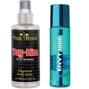 Envy Magic Perfume Body Spray 120ml and Pink Root Tag-Him Pour Homme Fragrance body Spray 200ml Pack of 2