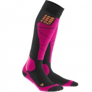 CEP Women Socks Ski Merino black/pink