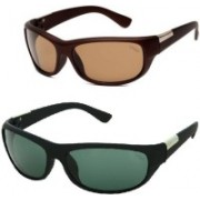 Criba Sports Sunglasses(Green, Brown)