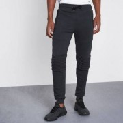 River Island Mens Navy biker panel muscle fit joggers