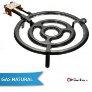 Paellero para Gas Natural tubo plano de Garcima 50 cm / 3 quemadores