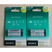 SONY 4XAAA Rechargeable Batteries NH-AA-B2 (1550 mAh) 1 + 1