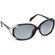 Glares by Titan Over-sized Sunglasses(Grey)