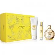 Versace Eros Pour Femme Комплект (EDP 100ml + EDP Roll On 10ml + BL 100ml) за Жени