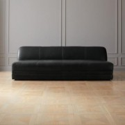 Cadet Black Leather Sofa by CB2