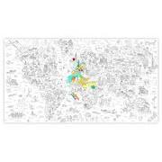 OMY Design & Play Poster à colorier XXL Atlas / 180 x 100 cm - OMY Design & Play blanc,noir en papier