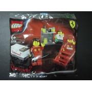 Toys 4 U 7777 SHELL Exclusive LEGO Racer Car Ferrari Pit Crew Minifig Set Polybag 30196 RARE /item# G4W8B-48Q48397