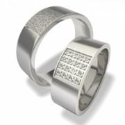 Luxusní Ocelové snubní prsteny 0140200017