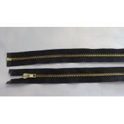 Fém bontható cipzár - húzózár, fekete színű, 80 cm hosszú