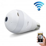 E27 3W 1080P LED-lamp vorm Wi-Fi IP-camera draadloze HD Home Security panoramische 360 graden lichtsensor lamp