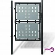 vidaXL Crna vrata za ogradu 100 x 225 cm