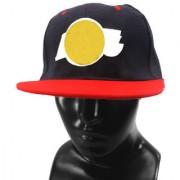 Black Plain Cotton Caps 08 B