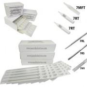 MUMBAI TATTOO NEEDLES 7RL 7RS 7M1 ROUND MAGNUM LINER SHADER WITH TIPS 7RT 7RT 7MFT(PACK OF 3 BOX NEEDLE 3 BOX TIPS)