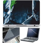 Finearts Laptop Skin Batman Vs Joker With Screen Guard And Key Protector - Size 15.6 Inch