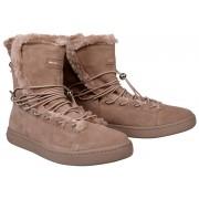 Fornarina Cizme de iarnă pentru femei Andromeda - Nude Kid Suede/Fur Wo´s Ankle Boot PI18AN1060S067 38