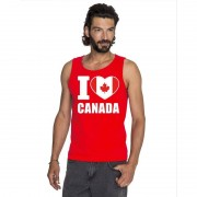 Bellatio Decorations Rood I love Canada fan singlet shirt/ tanktop heren
