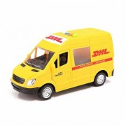 Morgan Sellers Big Size DHL Courier/Logistics Van For Kids with Lights Sound (116 Model Scale) Friction Powered