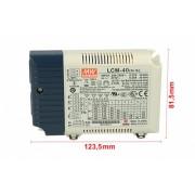 Led Driver CC Meanwell LCM-40 Dimmerabile 0-10V 10V PWM Corrente Costante Selezionabile 350/500/600/700/900/1050mA