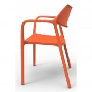 Resol - Conjunto de 2 cadeiras com braços laranja SPLASH AIRE - RESOL