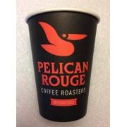 Pahare carton Pelican Rouge 8oz, 100 buc