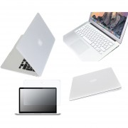 Case Carcasa + Protector De Teclado / Puertos / Pantalla Para Macbook Air 13'' Model (A1369/A1466) -Blanco