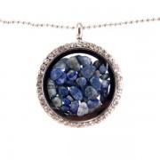 Üveg szelence lápisz lazuli ásványokkal
