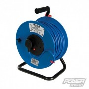 Cable Reel 240V Freestanding - 13A 50m 2 Socket 200084 5060012966164 PowerMaster