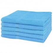 vidaXL Uteráky do sprchy zo 100% bavlny, 5 ks, 360 g/m², 70x140 cm, modré
