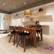 vidaXL Blagovaonske stolice od drva i umjetne kože 4 kom smeđe