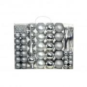Sonata Комплект коледни топки от 113 части, 6 см, сребро