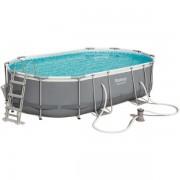 Bestway Komplett familjepool Power Steel pool 10.949L 488x305x107 cm - Bestway familjepool 56448