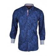 Spazio Bernard Long Sleeved Shirt Navy 47-S-1756