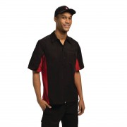 Chef Works Unisex Contrast Shirt Black and Red M Size: M