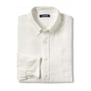 ランズエンド LANDS' END メンズ・リネン・シャツ/ロールアップ袖(アイボリー)
