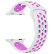 Wotchi Silikonový řemínek pro Apple Watch - Bílá/Levandulová 42/44 mm