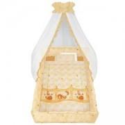 Бебешки спален комплект от 6 части голям обиколник Lorelli, Поспаланко, екрю, 074037