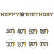 Liragram Guirnalda felicidades de Burbujas de Champagne de 2,13 cm - Número 40