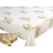 Teflonos asztalterítő fehér 130x160 cm görögös minta (190)