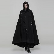 Punk Rave Enchanted Room Large Long Cloak Coat Black WY-878DPM