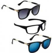 Vitoria Wayfarer, Rectangular Sunglasses(Multicolor)