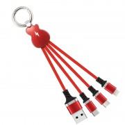 Univerzálny nabíjací USB kábel 3V1 - Micro USB, Lightning, USB-C
