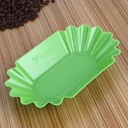ELECTROPRIME Plastic Plate Oval Coffee Bean Tray for Coffee Beans Display & Select Green