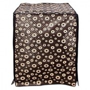 Black Floral Waterproof & Dustproof Washing Machine Cover For Front Load Bosch WAK20260IN SERIE 4 7 Kg Washing Machine