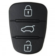Hyundai 3 Button Remote Key Fob Case Shell Rubber Pad For Hyundai I10 I20 I30 Flip Key