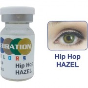 Celebration Conventional Colors Yearly Disposable 2 Lens Per Box With Affable Lens Case And Lens Spoon(Hip Hop Hazel-5.00)